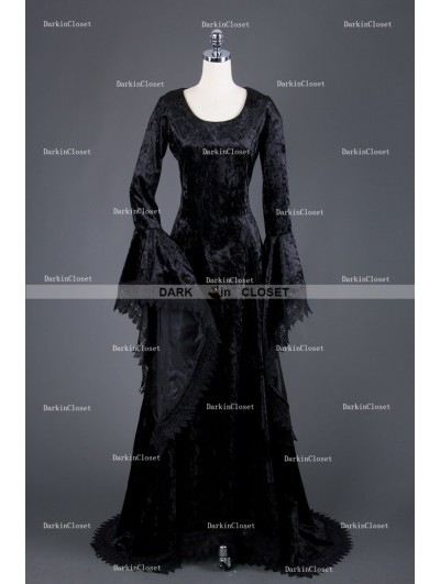 Medieval Night Black Gothic Vampire Medieval Dress