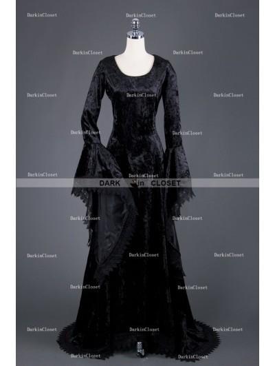 Medieval Night Black Gothic Vampire Medieval Dress