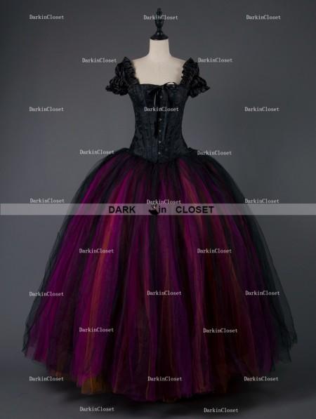 58a8758fb2da Rose Blooming Gothic Corset Long Prom Ball Gown Dress - DarkinCloset.com