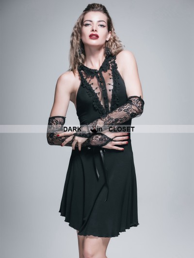 Devil Fashion Black Gothic Sexy Short Dress