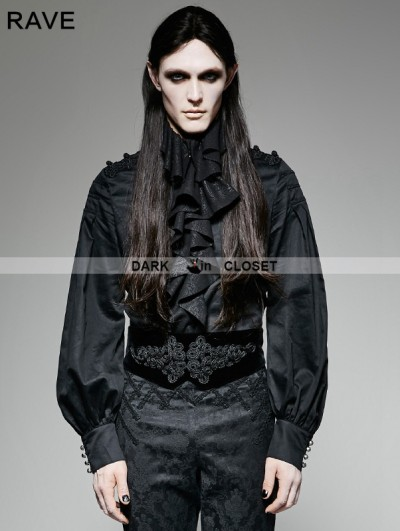Punk Rave Black Velvet Gothic Girdle