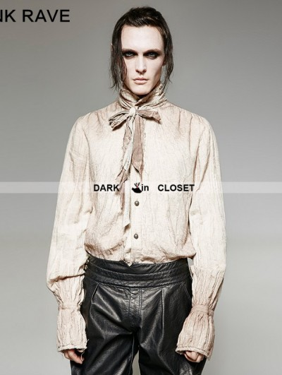 Punk Rave Do Old Style Retro Steampunk Tie Shirt for Men