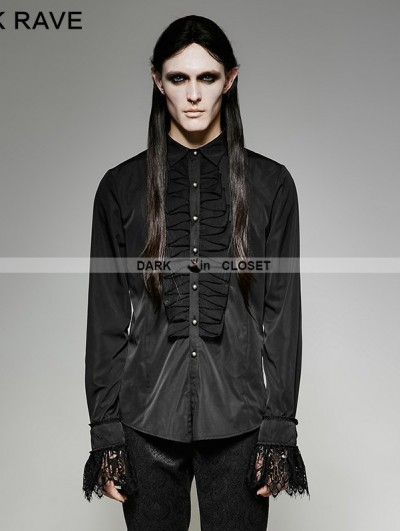 Punk Rave Black Gothic Classic Shirt for Men