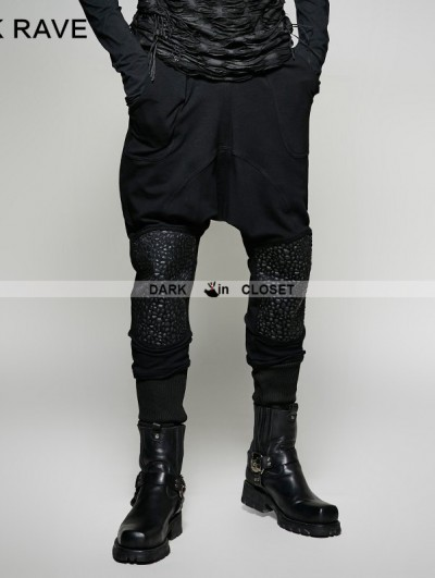 Punk Rave Black Gothic Heavy Punk Harem Pants for Men