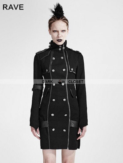 Punk Rave Black Gothic Handsome Uniform Dress