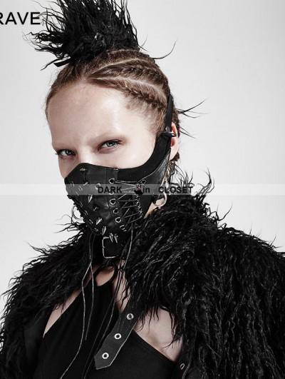 Punk Rave Black Gothic Punk Mask for Women