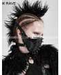 Punk Rave Black Gothic Punk Mask for Women
