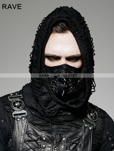 Punk Rave Black Gothic Punk Mask for Men