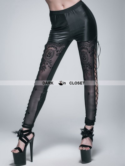 Devil Fashion Black Gothic Legging for Women