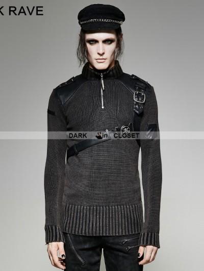 Punk Rave Steampunk Belt Sweater for Men