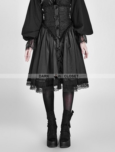 Punk Rave Black Gothic Two Wear Pettiskirt Cloak
