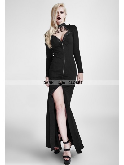 Punk Rave Black Gothic Heavy Punk Long Dress
