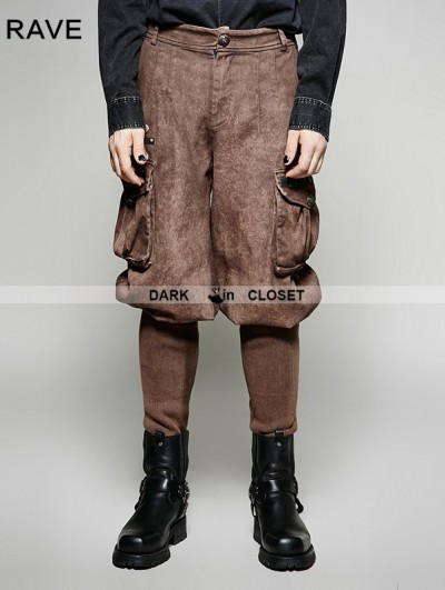 Punk Rave Coffee Steampunk Looser Trouser for Men