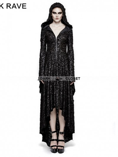 Punk Rave Black Gothic Vampire Decadent Hooded Dress