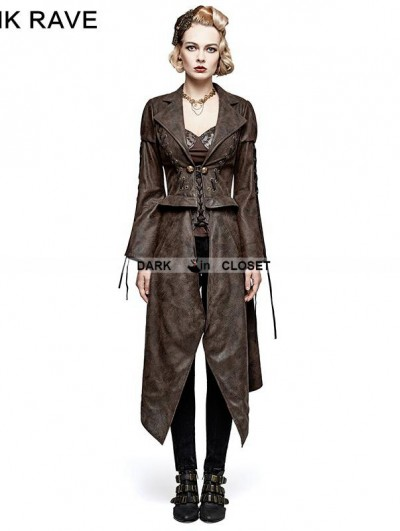 Punk Rave Brown Steampunk Removable Jacket for Women