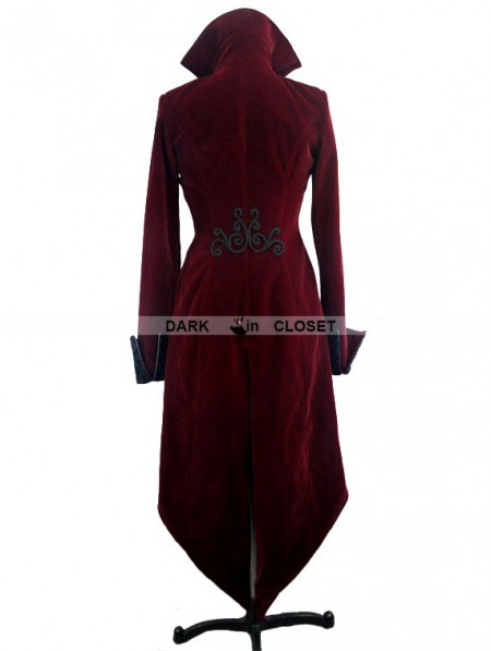 8cb8a085e0c631 ... Devil Fashion Wine Red Gothic Palace Style Long Coat for Women