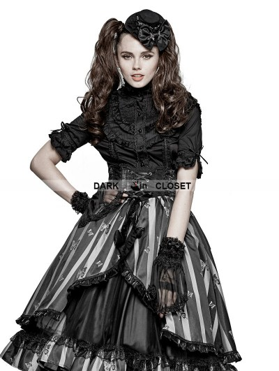 Punk Rave Black Gothic Lolita Accessories Gloves