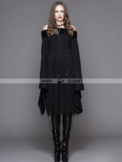 Devil Fashion Romantic Black Gothic Off-the-Shoulder Dress For Women