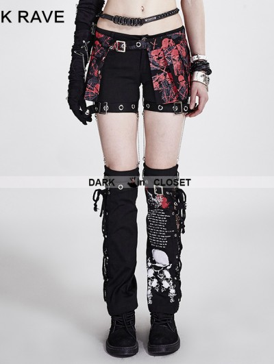 Punk Rave Two-piece Set Detachable Punk Style Pants For Women