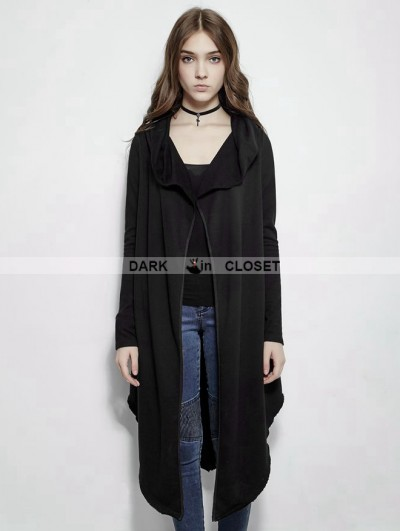 Punk Rave Dark Gothic Irregular Fleece Jacket For Women