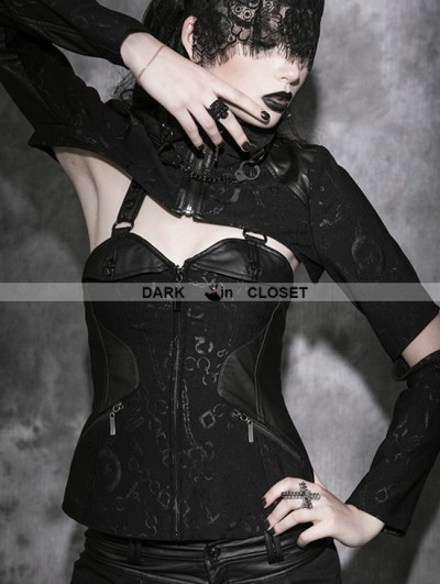 Punk Rave Black Gothic Multi Wear Ways Tight Body Corset