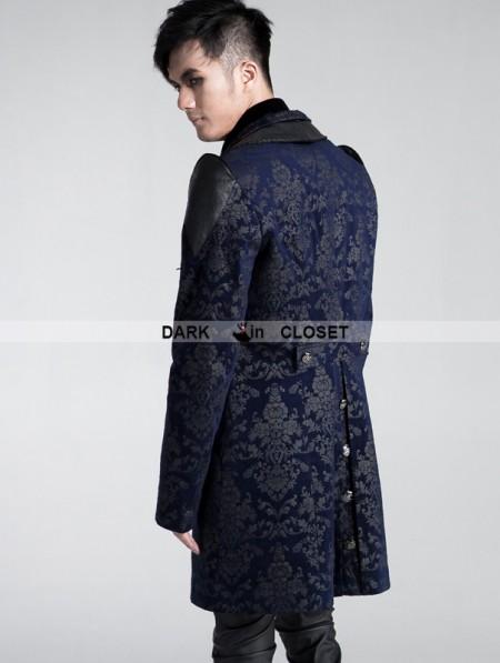 Punk Rave Black-blue Gothic Palace Style Printing Dress Jacket For ...