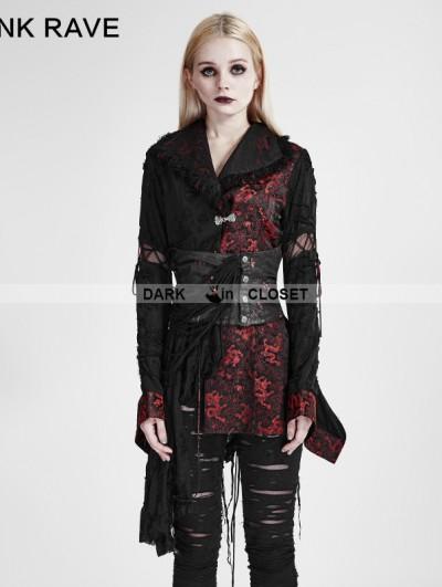 Punk Rave Gothic Lolita Black-Red Kimono Dress