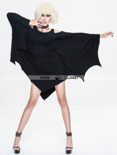 Devil Fashion Black Dark Style Gothic Bat Dress