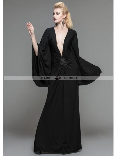 Devil Fashion Black Gothic Persephone Maxi Dress