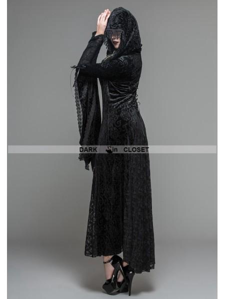 Devil Fashion Black Velvet Gothic Vampire Style Hooded ... | 450 x 597 jpeg 34kB