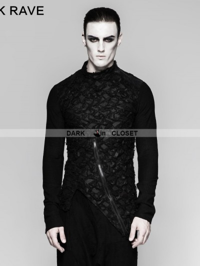 Punk Rave Black Gothic Decadent Heavy Punk Long Sleeve Mens T-Shirt