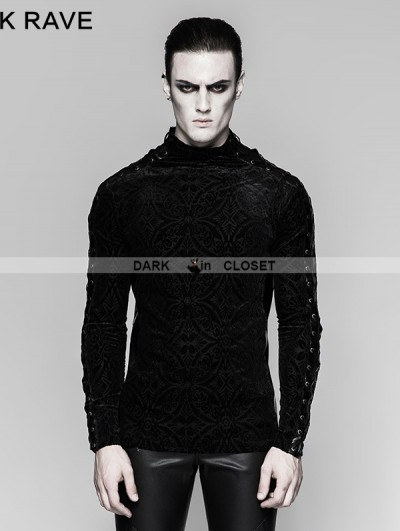 Punk Rave Black Gorgeous Gothic Long Sleeve T-shirt for Men