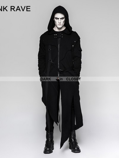 Punk Rave Black Gothic Darkly Punk Jacket for Men