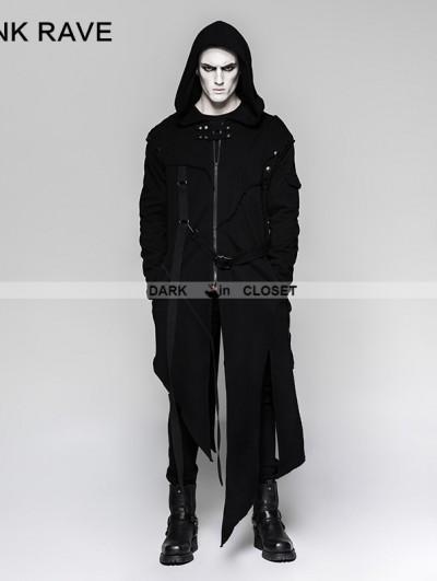 Punk Rave Black Gothic Darkly Punk Jacket for Men