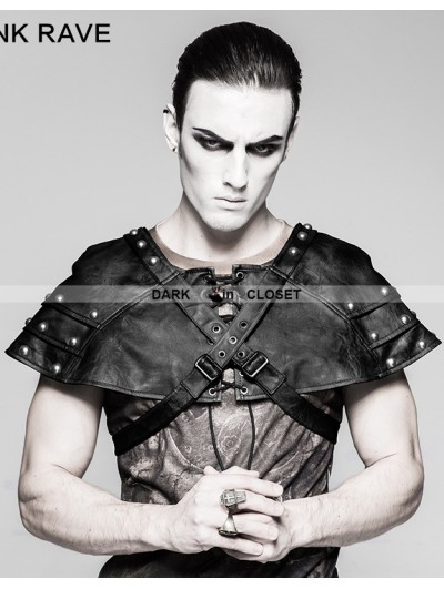 Punk Rave Black Mechanical Steampunk Armor Cape for Men