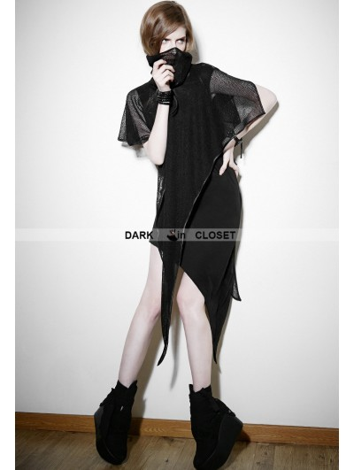 Punk Rave Black Gothic Punk Detachable Two-Piece Dress
