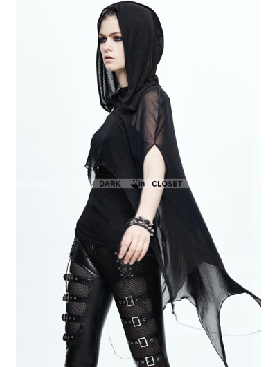 Devil Fashion Black Gothic Bat Style Hooded Cape for Women