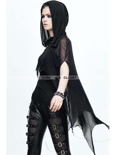 Devil Fashion Black Gothic Bat Style Hooded Cape for Women
