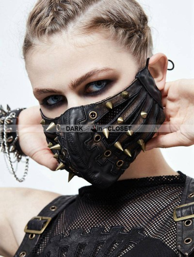 Devil Fashion Bronze Gothic Punk Mask