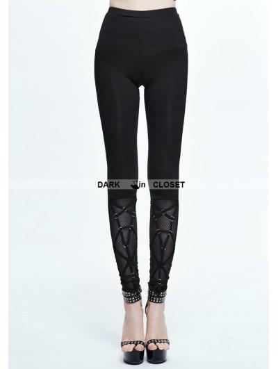 Devil Fashion Black Gothic Lace-up Legging for Women