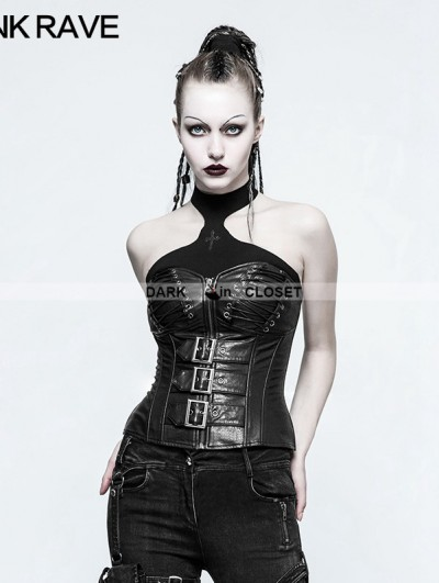 Punk Rave Black Gothic Punk Handsome Corset