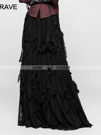 Punk Rave Black Gothic Vintage Gorgeous Skirt