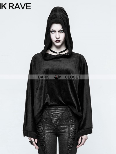 Punk Rave Black Gothic Chinese Sleeve Sweater for Women