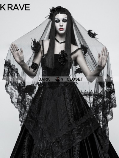Punk Rave Gothic Gorgeous Veil
