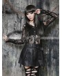 Pentagramme Black Gothic High-Waist PU Leather Short Skirt