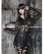 Pentagramme Black Gothic High-Waist PU Leather Short Skirt