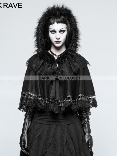 Punk Rave Black Gothic Lolita Little Cloak/Cape for Women