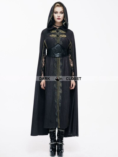 Devil Fashion Black Gothic Vintage Style Coat Cape for Women