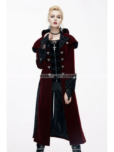Devil Fashion Red Gothic Vintage Palace Style Long Jacket for Women