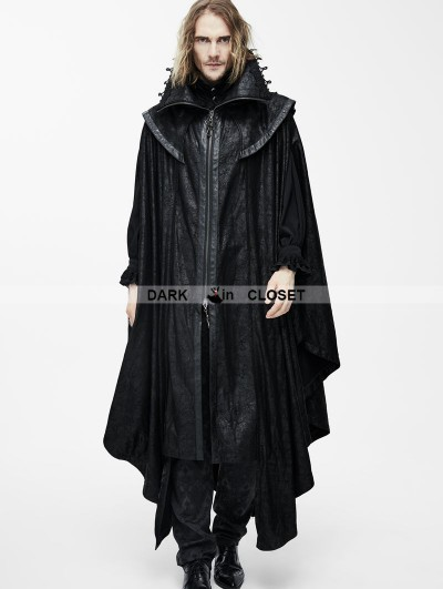 Devil Fashion Black Gothic Big Cape for Men